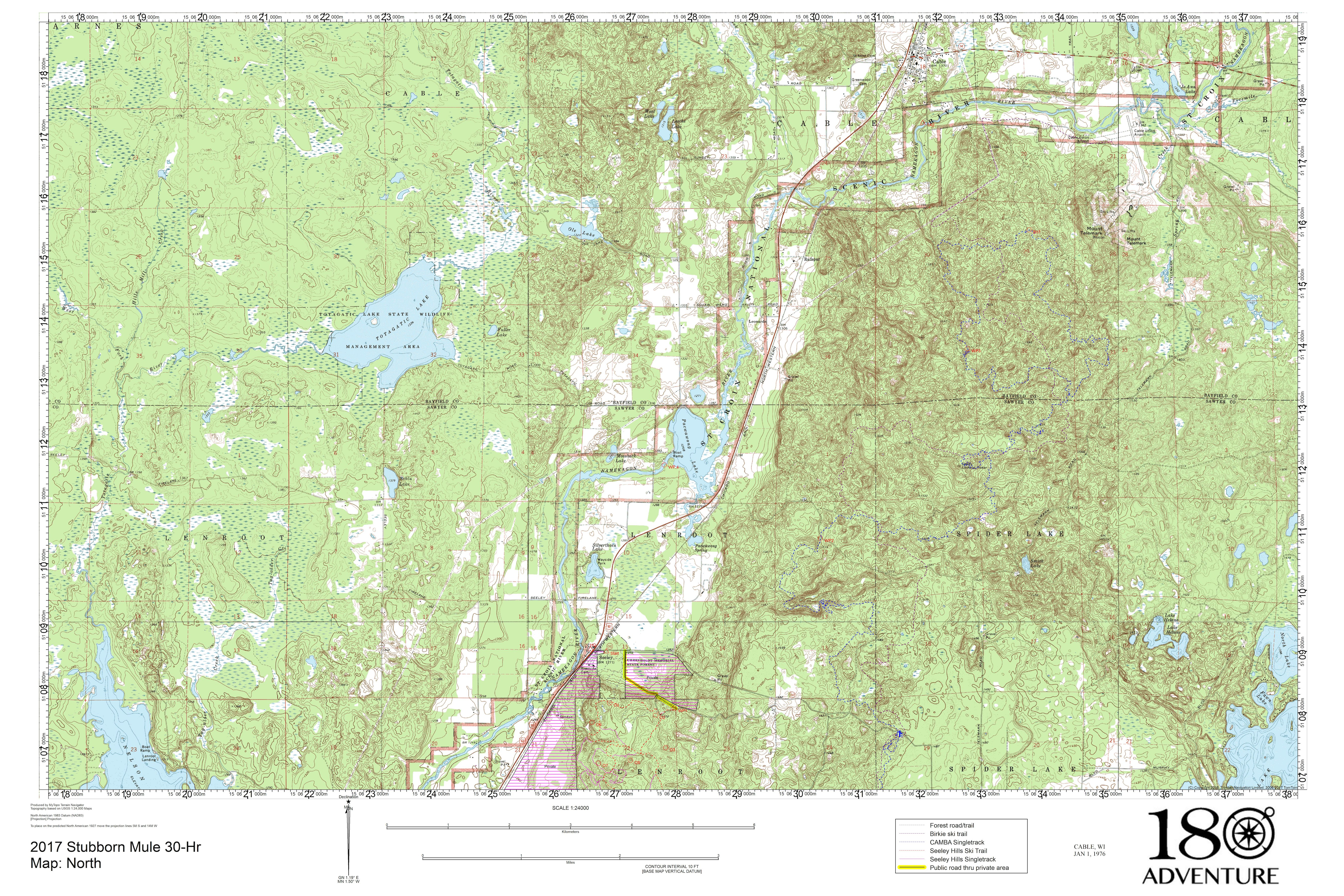 Sample Race Instructions and Maps – 180 Adventure